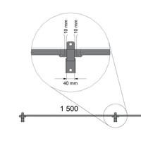 ST20 beschichteter Gitterelement  2200mm Höhe in schwarz (RAL 9005)