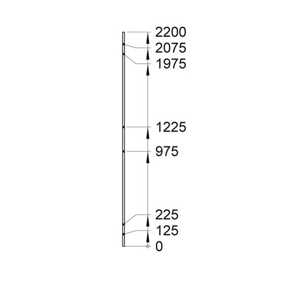 Troax USRP full steel panel 2200mm height yellow coated (RAL 1015)