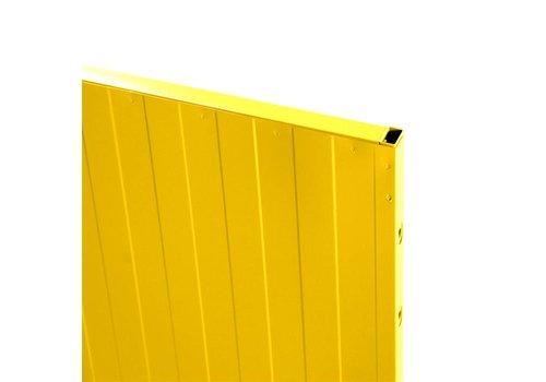 USRP volle plaat paneel 2200mm hoog - geel