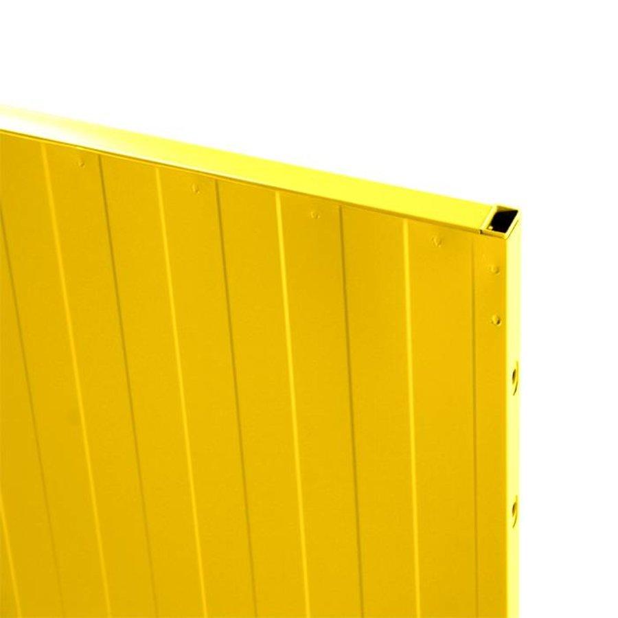 USRP volle plaat paneel 2200mm hoog  geel gecoat (RAL 1015)
