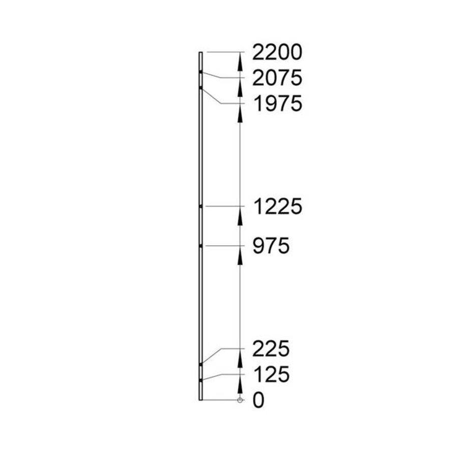 USRP volle plaat paneel 2200mm hoog  grijs gecoat (RAL 7037)