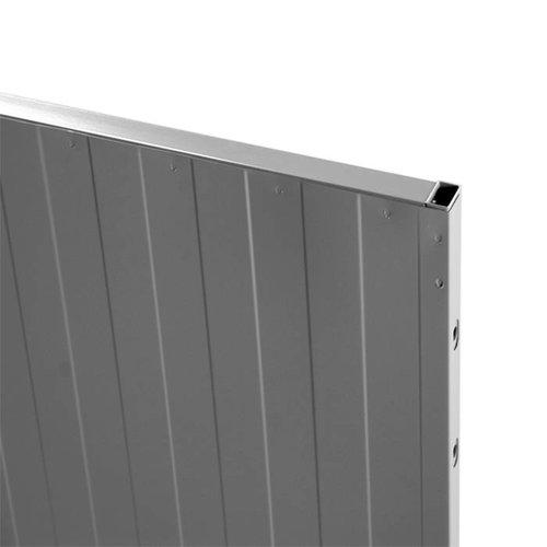 USRP volle plaat paneel 2200mm hoog - grijs