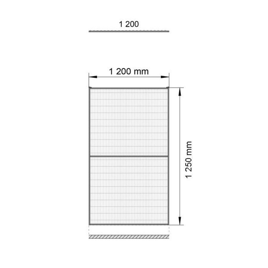ST30 gecoat gaaspaneel 1400mm hoog in geel (RAL 1018)