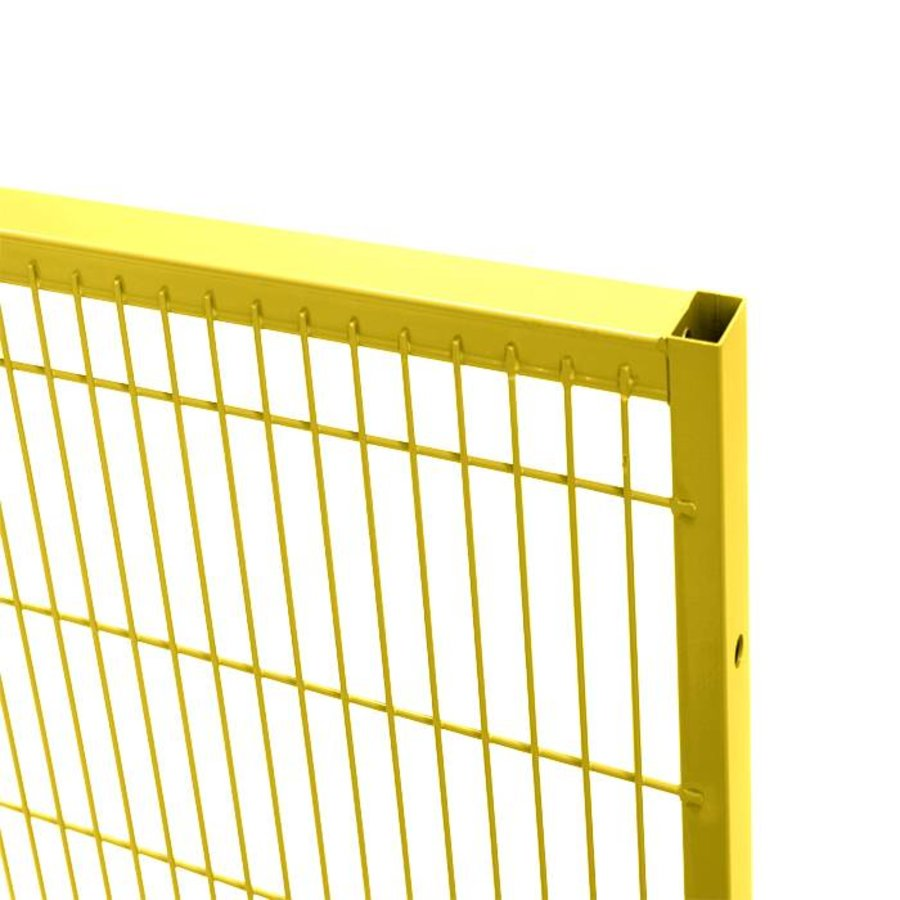 ST30 coated mesh panel 1400mm height in yellow (RAL 1018)