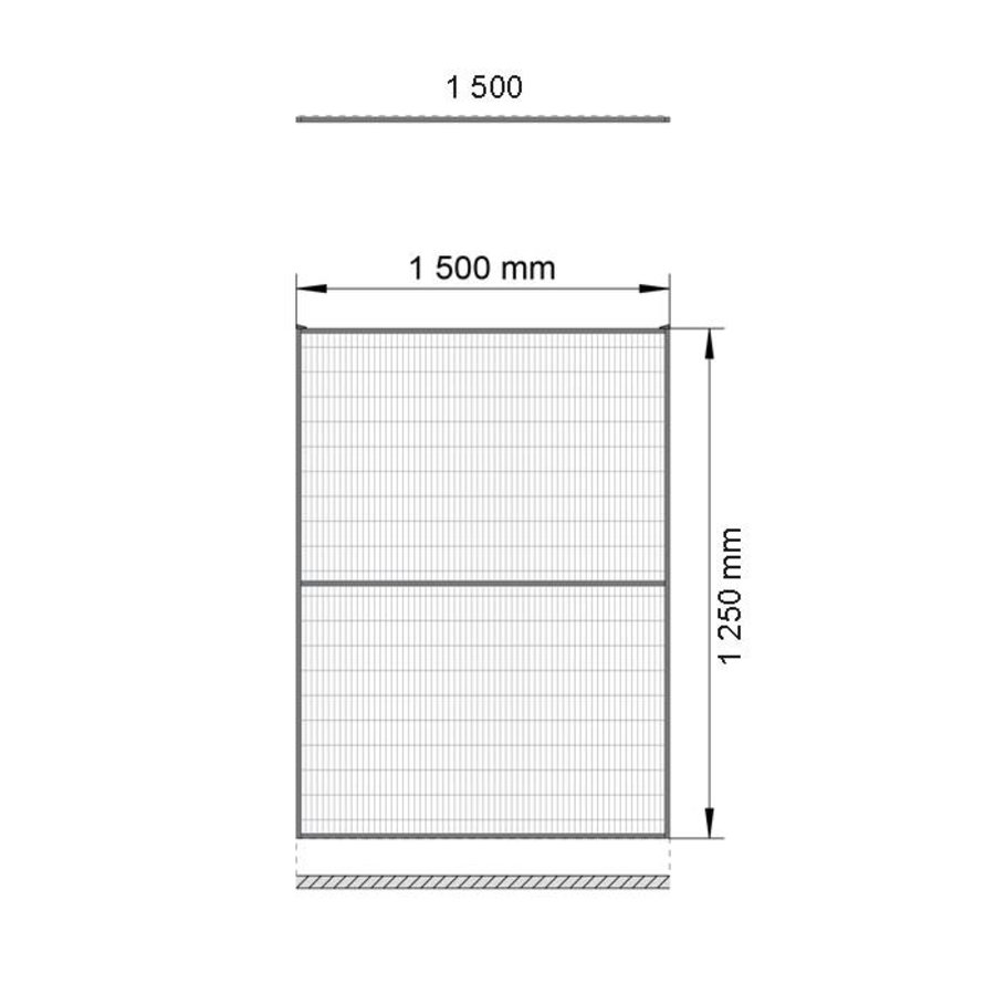 ST30 coated mesh panel 1400mm height in black (RAL 9005)