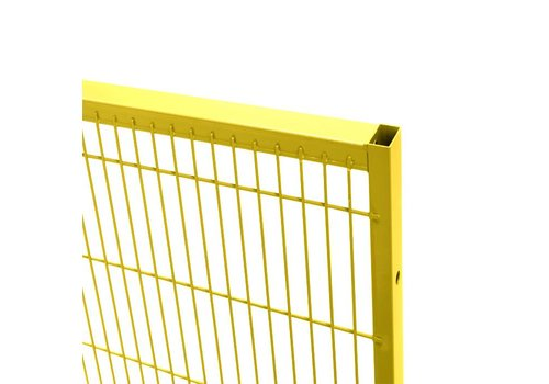 ST30 mesh panel 2200mm height - yellow