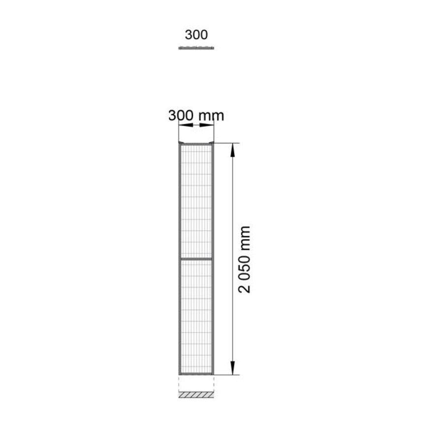 ST20 beschichteter Gitterelement  2200mm Höhe in grau (RAL 7037)