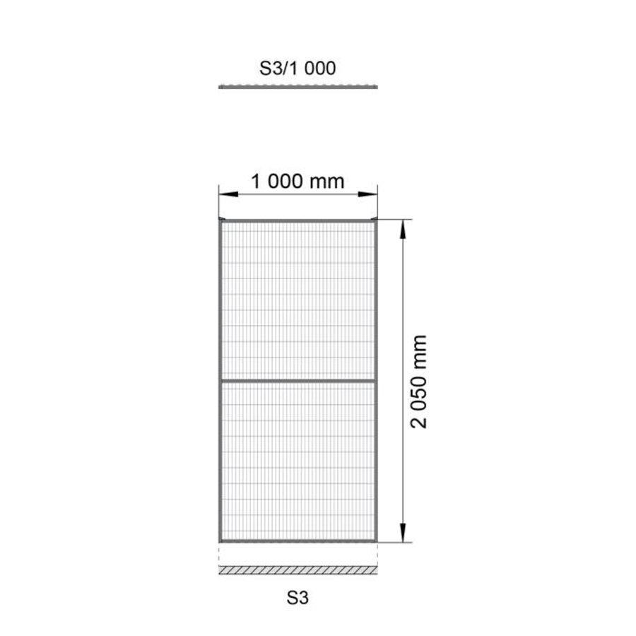 ST30 beschichteter Gitterelement  2200mm Höhe in grau (RAL 7037)