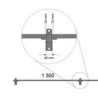 ST30 gecoat gaaspaneel 2200mm hoog in grijs (RAL 7037)