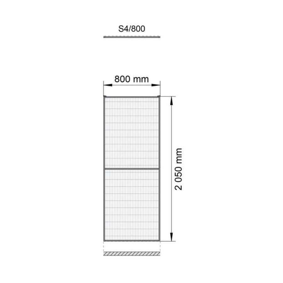 ST30 coated mesh panel 2200mm height in black (RAL 9005)