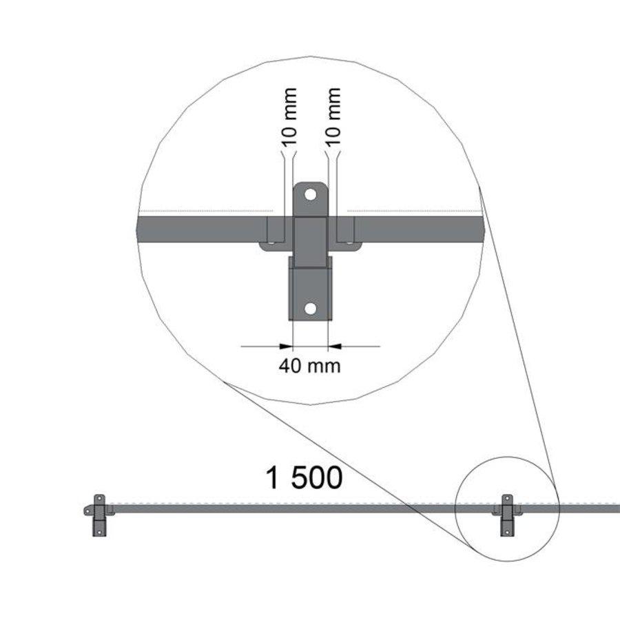 ST20 Feuerverzinkt Gitterelement  1400mm Höhe