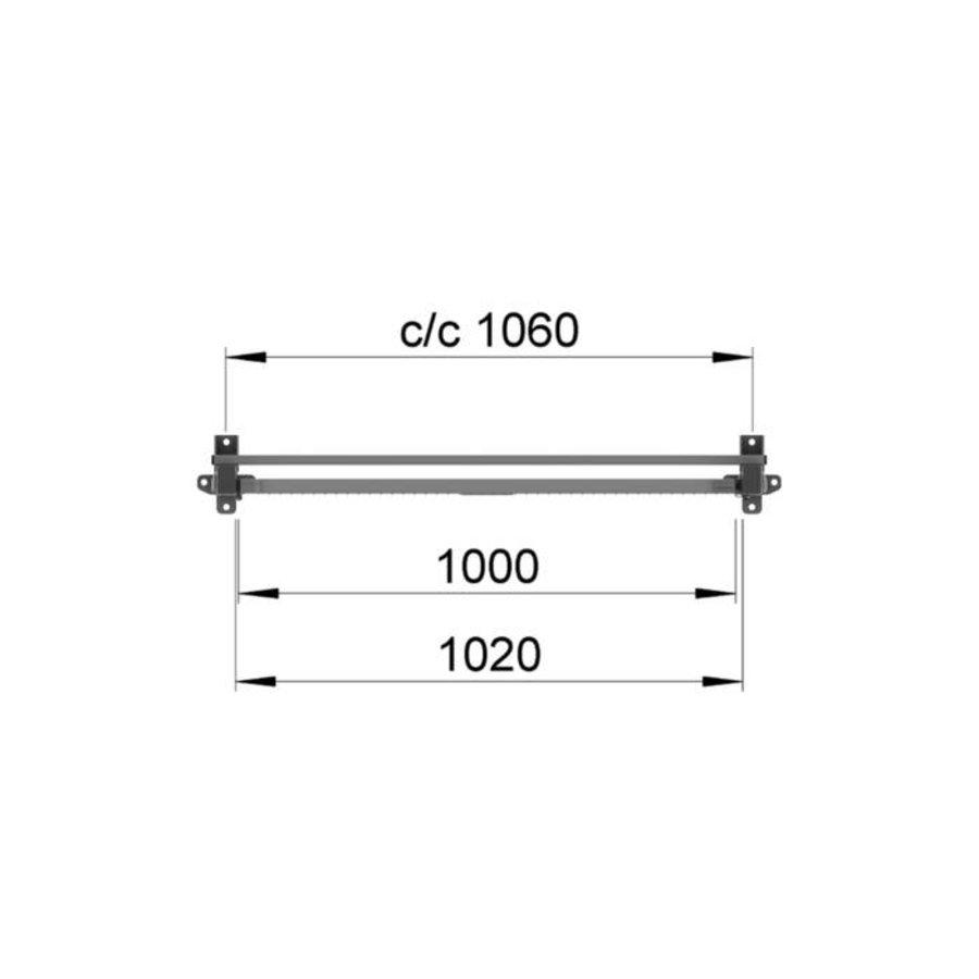 ST30 gecoate enkele draaideur 2200mm hoog in grijs (RAL 7037)