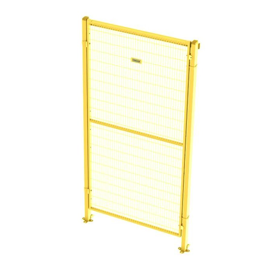 ST30 coated single hinged door 2200mm height in yellow (RAL 1018)