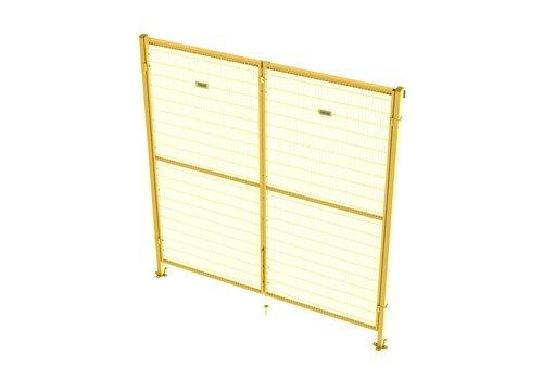 Double hinged door 2200mm height - yellow