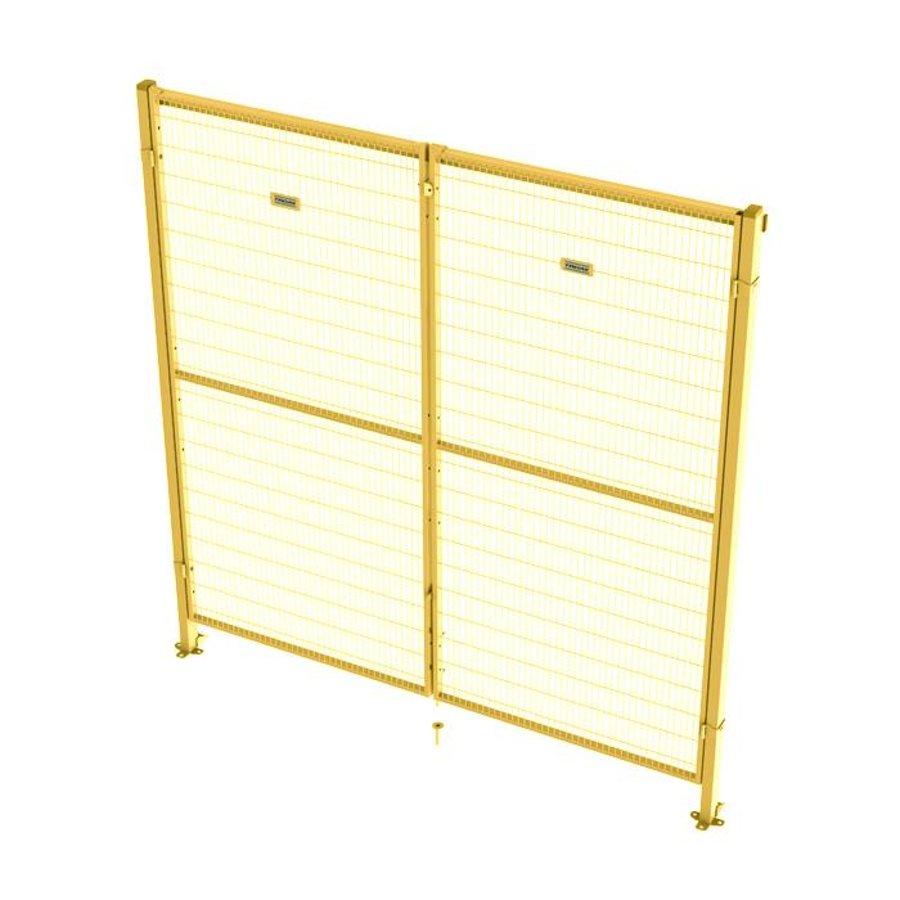 ST30 gecoate dubbele draaideur 2200mm hoog in geel (RAL 1018)