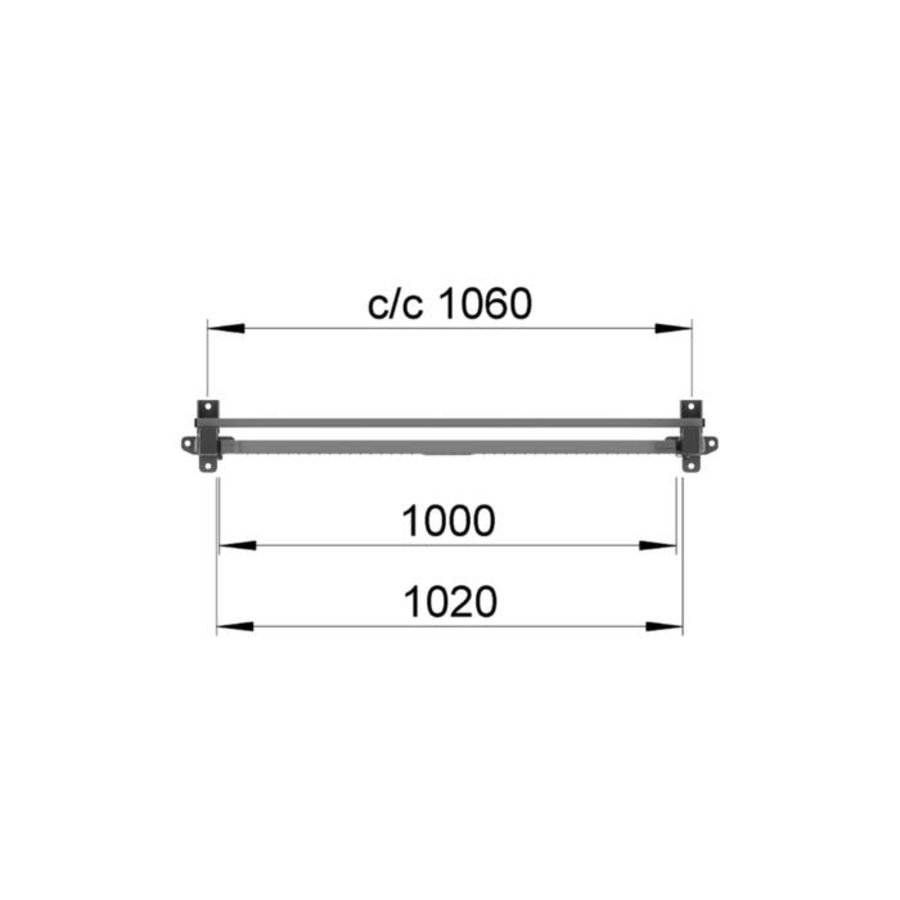 ST30 thermisch verzinkte enkele draaideur 2200mm hoog