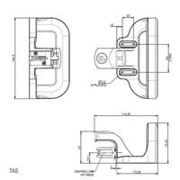 Hendelbediende aluminium veiligheidsschakelaar PLd