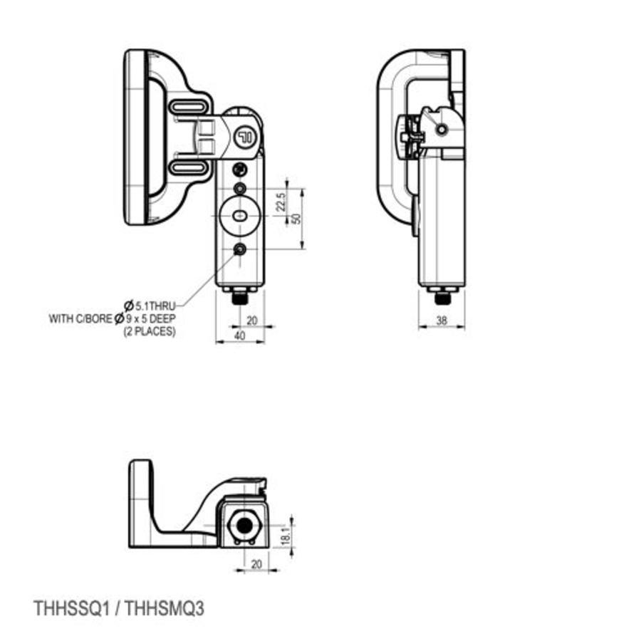 Sicherheitsschalter aus Aluminum mit Griffbetätiger PLd