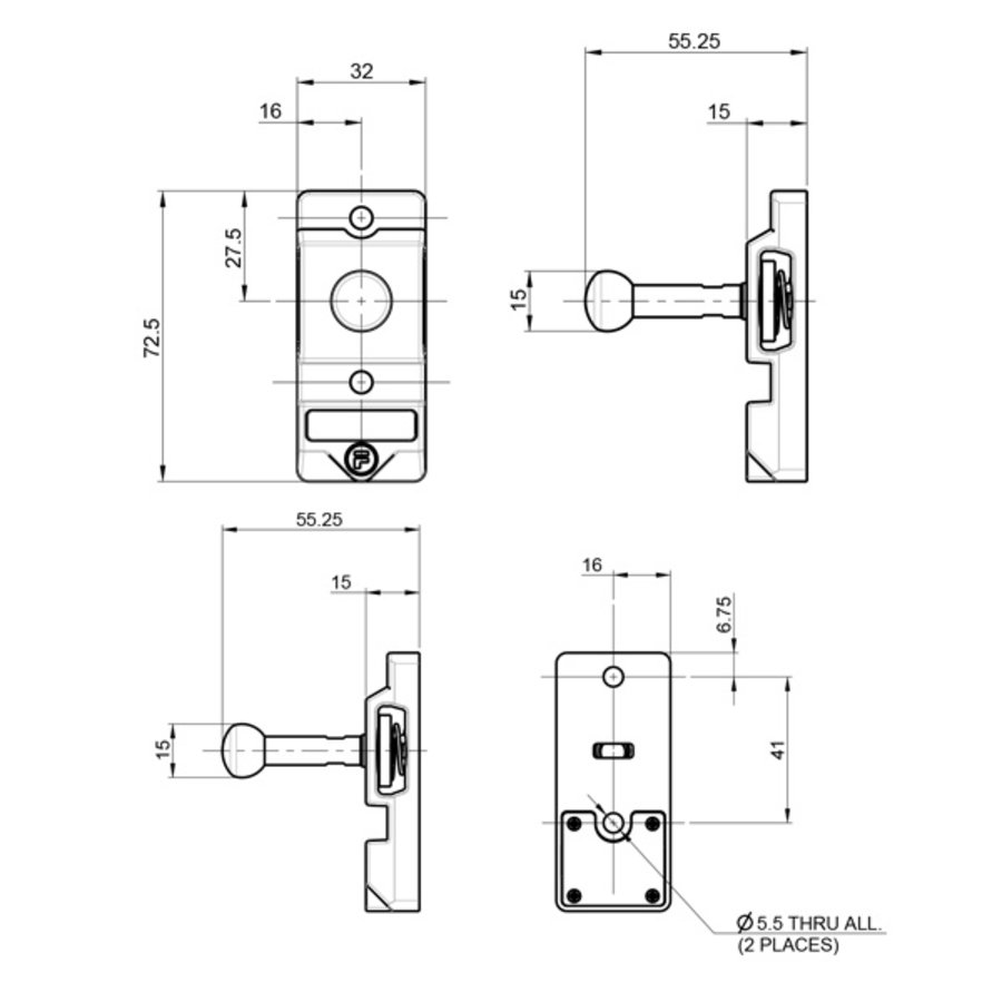 Robust RIFD ball actuator operated steel safety interlock switch PLe