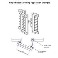 Robuster RFID Sicherheitsschalter mit Zuhatlung aus Metall mit Ball Betätiger PLe