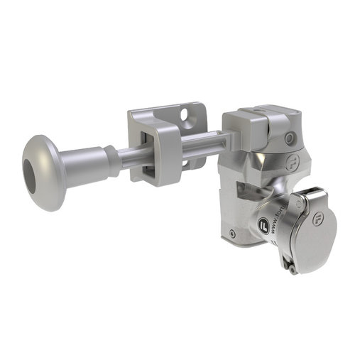 Single stainless steel door interlock with handle actuator DMSK