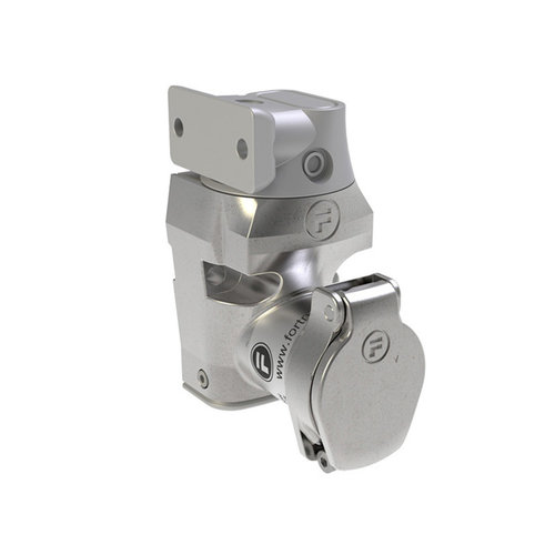 Single stainless steel door interlock with fixed actuator DMSK