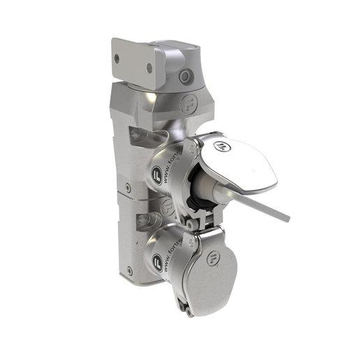 RVS deurvergrendeling  met veiligheidssleutel en vaste tong  DMSK2