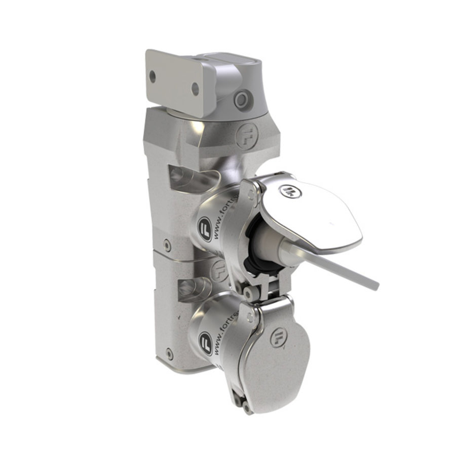 Coded double door interlock stainless steel with fixed actuator PLe