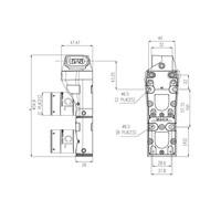 Coded double door interlock with fixed actuator PLe