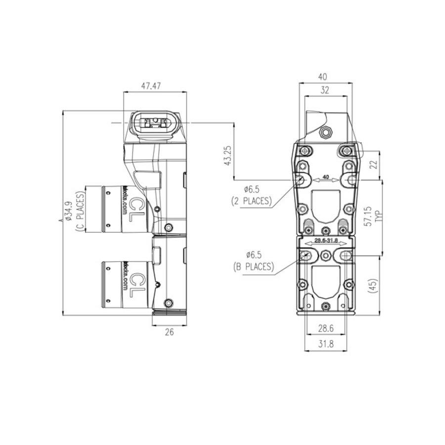 Gecodeerde dubbele deurvergrendeling met vaste tong PLe