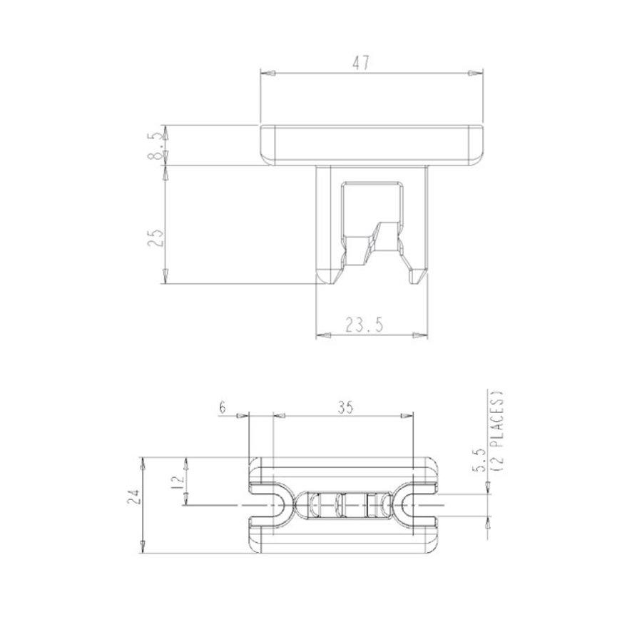 Codierter Doppel Zuhaltungseinrichtung  Edelstahl mit gerader Betätiger PLe