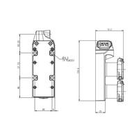 Gecodeerde dubbele deurvergrendeling RVS met hendel bediende tong PLe