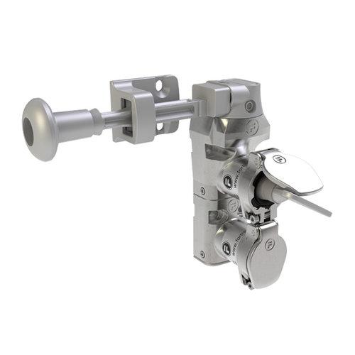 RVS deurvergrendeling  met veiligheidssleutel en hendel  DMSK2