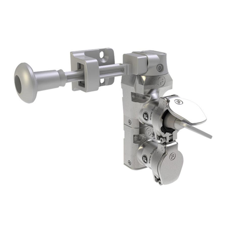 Coded double door interlock stainless steel with handle actuator PLe