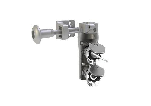 Stalen deurvergrendeling  met veiligheidssleutel en hendelbeidende tong  DM2