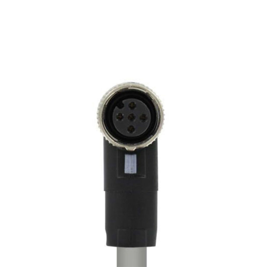 PVC cable with 1 connector M12, 5-pole (female)