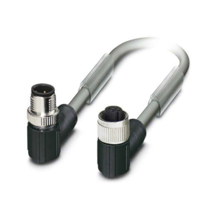 PVC cable with 2 connectors M12, 5-pole (female +male)