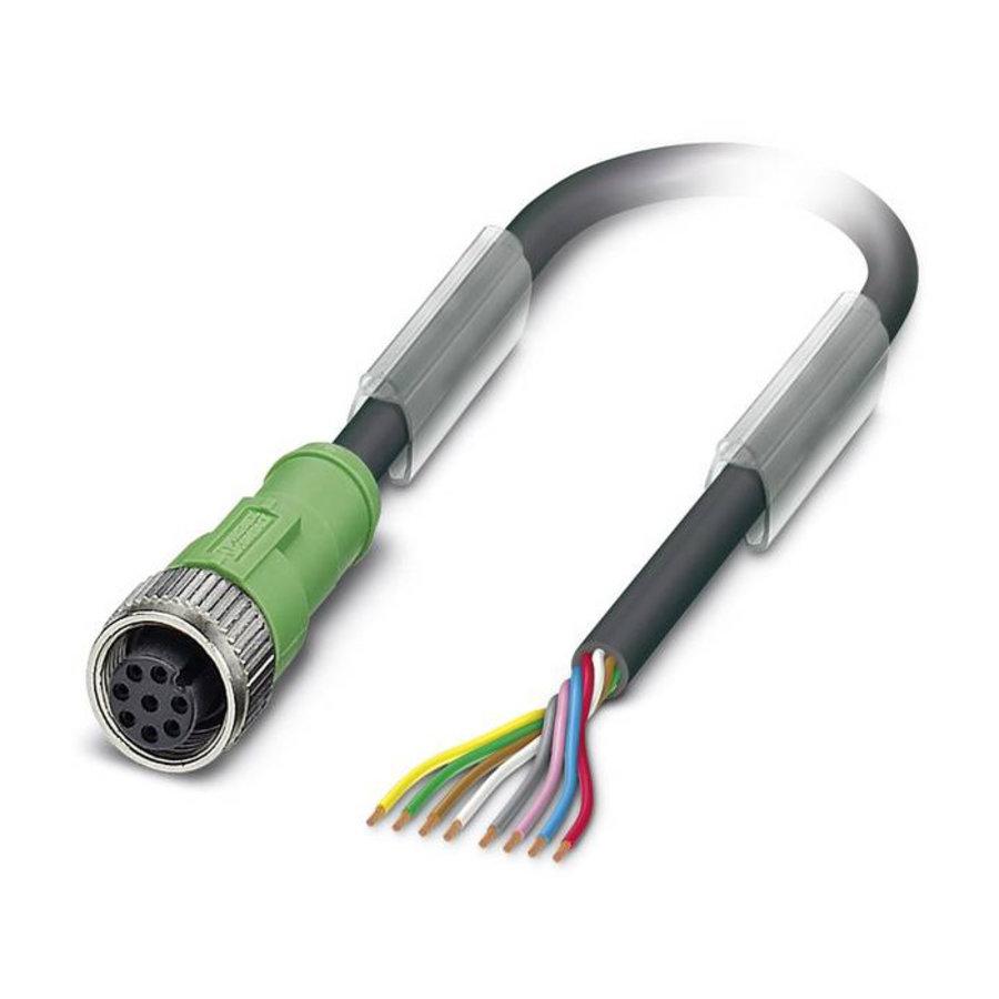 PVC Kabel mit 1 Stecker M12, 8-polig (Buchse)