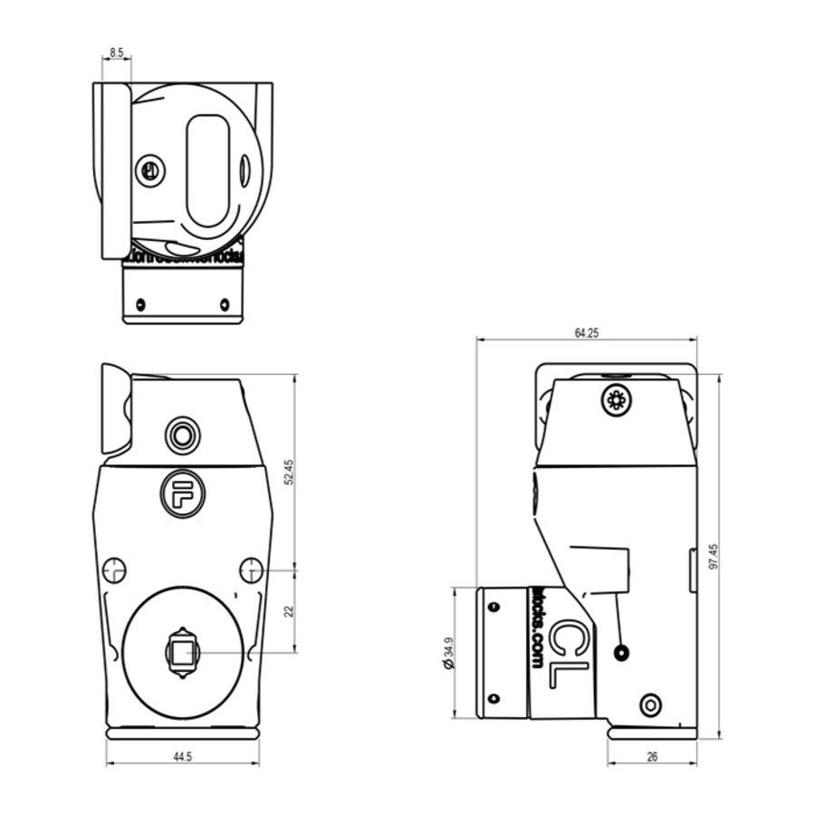 Gecodeerde deurvergrendeling met vaste tong PLe