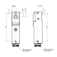 Robuuste RFID stalen veiligheidsschakelaar met haakse bal actuator en vergrendeling  PLe