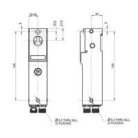 Robuuste RFID stalen veiligheidsschakelaar met schuifgrendel  bediende bal actuator en vergrendeling  PLe