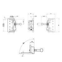 Robuster RFID Sicherheitsschalter mit Zuhatlung aus Metall mit Ball Winkel-Betätiger PLe