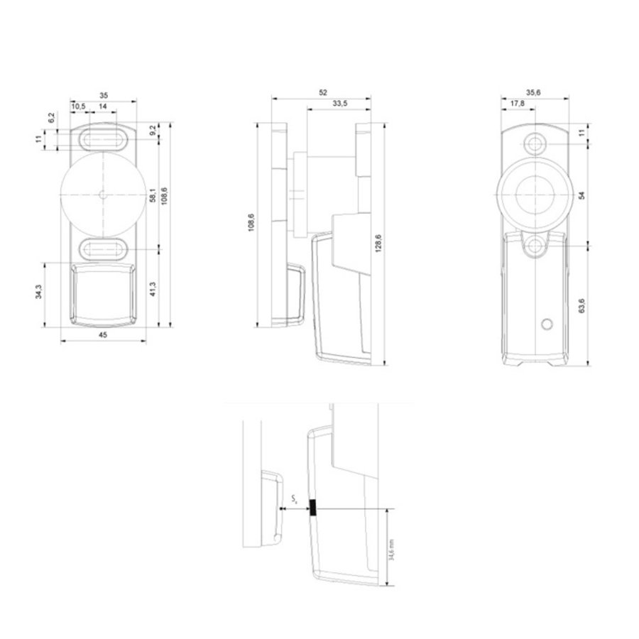 Process Lock with RFID unique coded safety sensor and 600N latching force