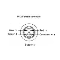 Inbouw Signaallamp - 3 Kleuren