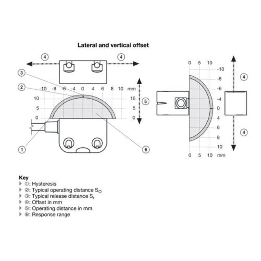 RFID uniek gecodeerde contactloze veiligheidssensor PSEN CS4