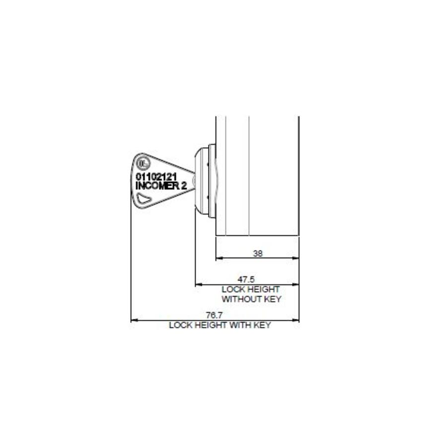 Handle operated safety interlock switch with personal safety key
