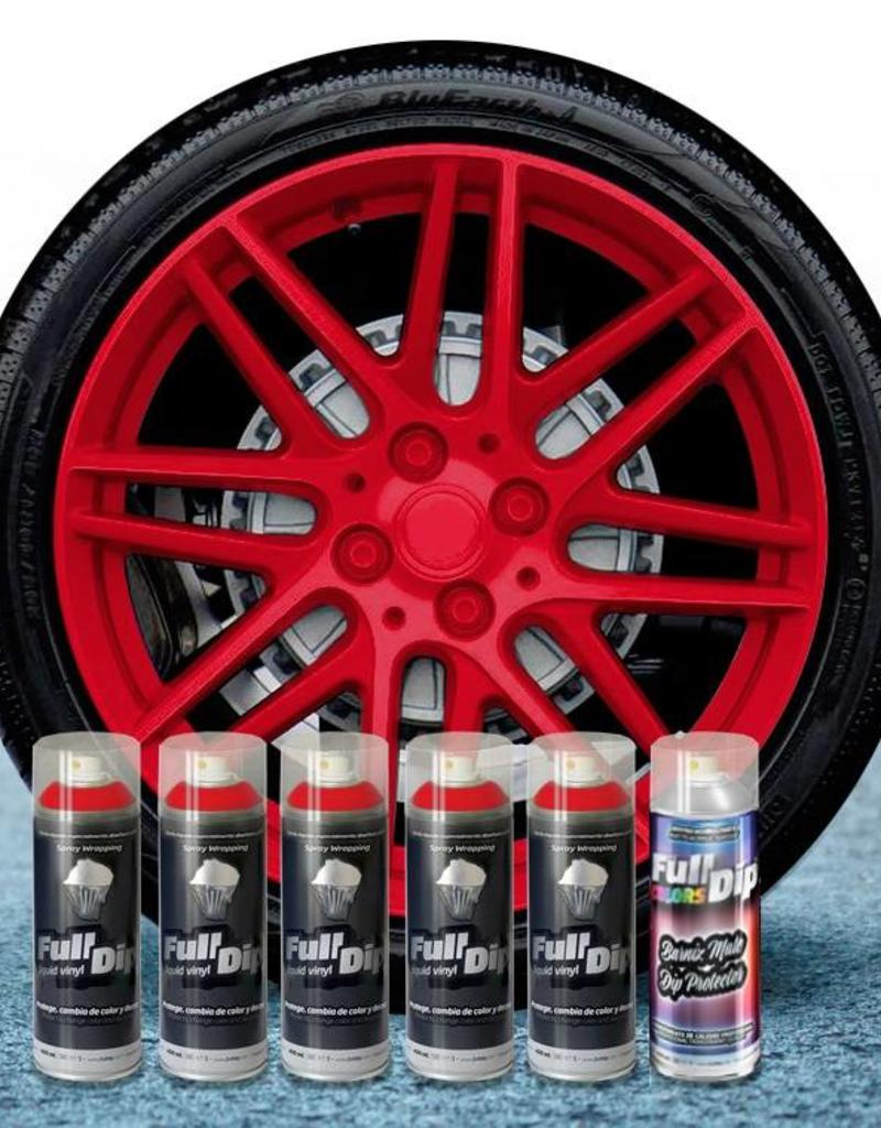 FullDip rims package carmin red