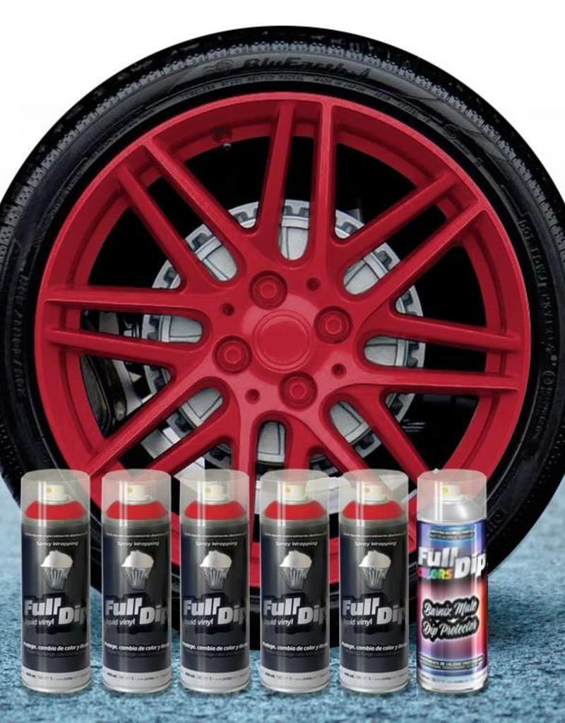 FullDip rims package cherry red