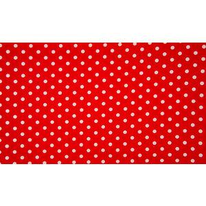 Baumwolle Stoff  Rot mit weißen Punkten