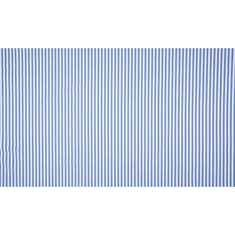 Baumwolle Stoff Blau Streifen